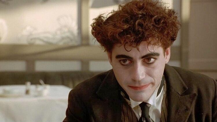 "Robert Downey en ""Chaplin"" (1992)"