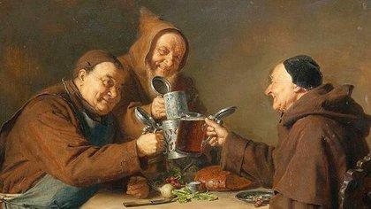 Los monjes en toda Europa se especializaron en fabricar cerveza en las abadías.