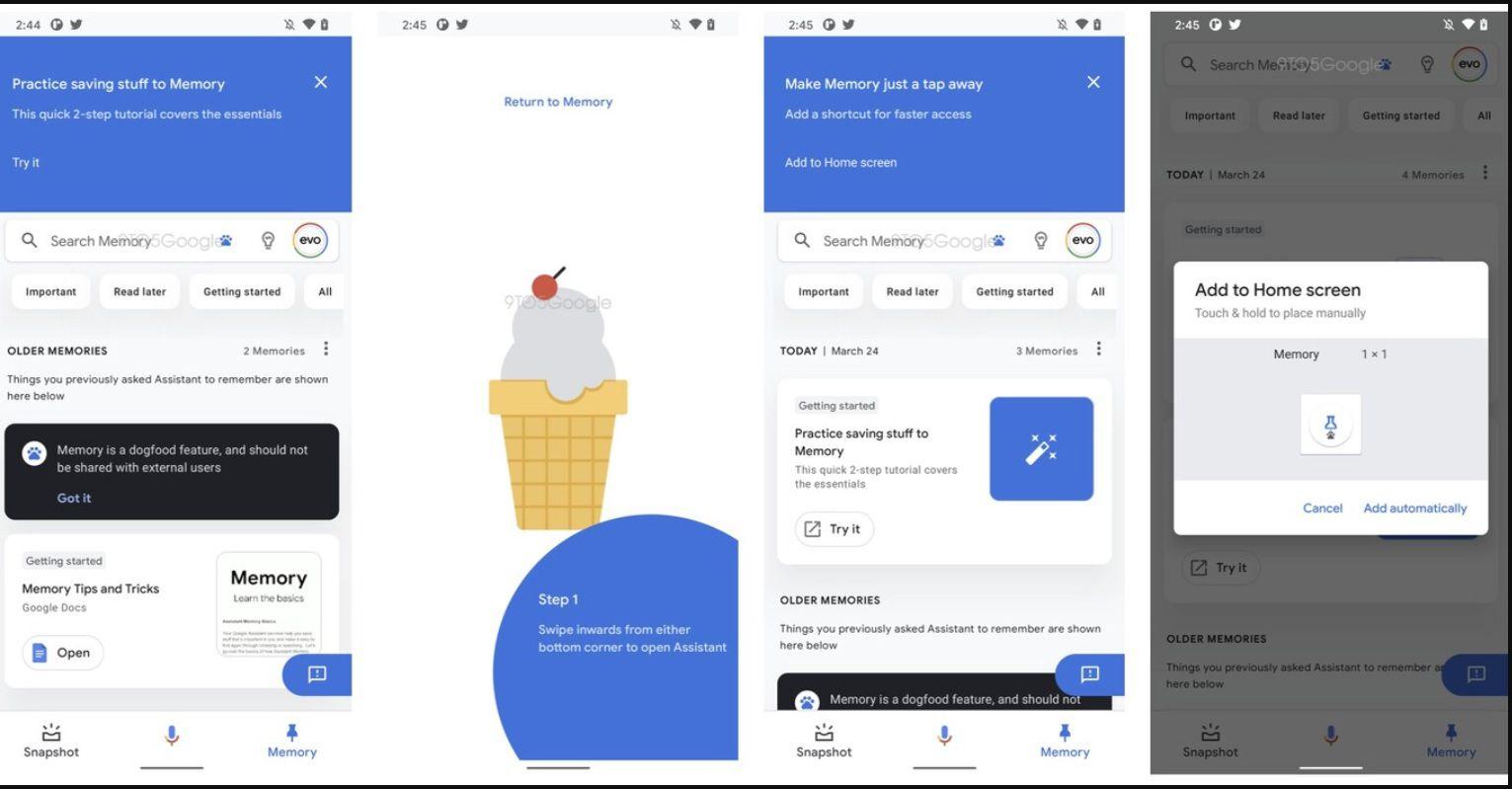 La nueva función Memoria del Asistente de Google