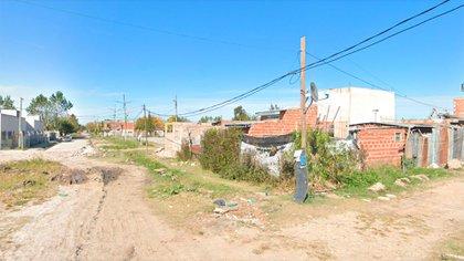 Una esquina del barrio donde ocurrió el hecho (Google Street View)