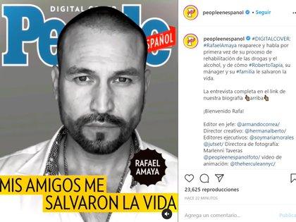 Rafael Amaya confirmó que estuvo en rehabilitación por sus excesos con las drogas y el alcohol
