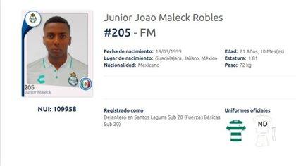 Joao Maleck, futbolista que asesinó a dos personas en un accidente automovilístico, continuará su carrera en el balompié azteca (Foto: Captura de pantalla/ Liga MX)