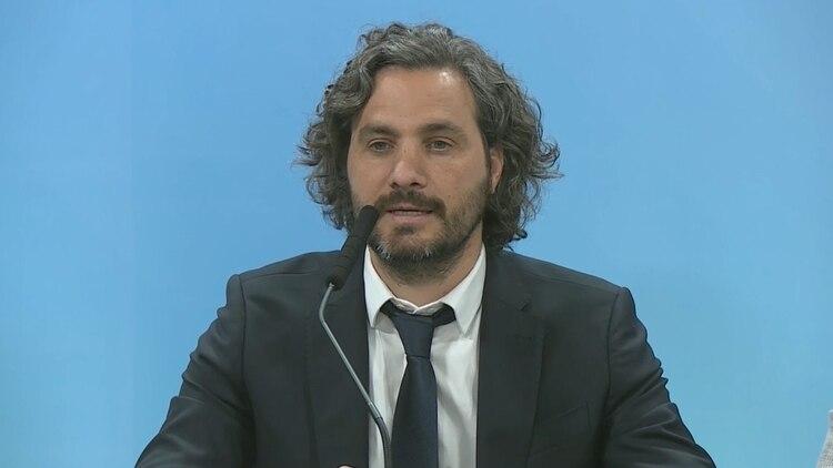 """Santiago Cafiero, jefe de Gabinete. Sostuvo que """"no hay presos políticos"""" en el país y sí detenidos de manera injusta, arbitraria"""