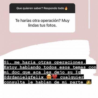 Morena Rial sostuvo que se realizará otras cirugías