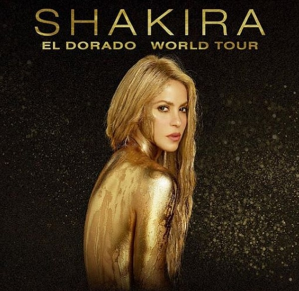 """La promoción de la gira de Shakira, """"El dorado world tour"""""""