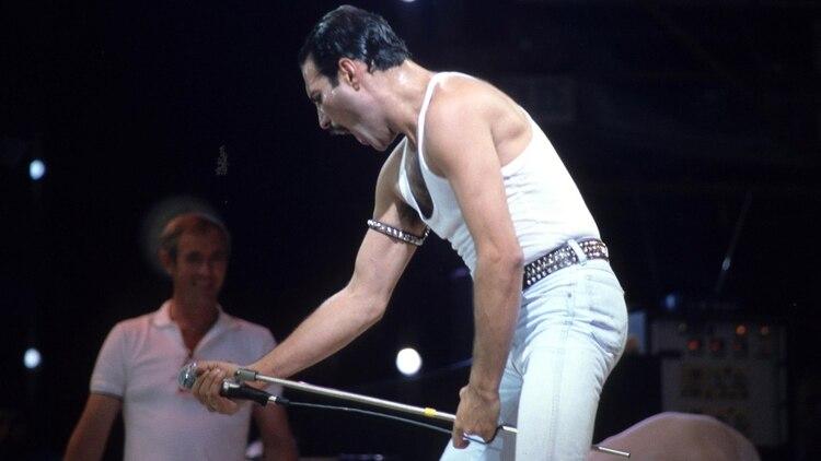 Freddie Mercury en Live Aid, 1985 (Alan Davidson/Shutterstock)