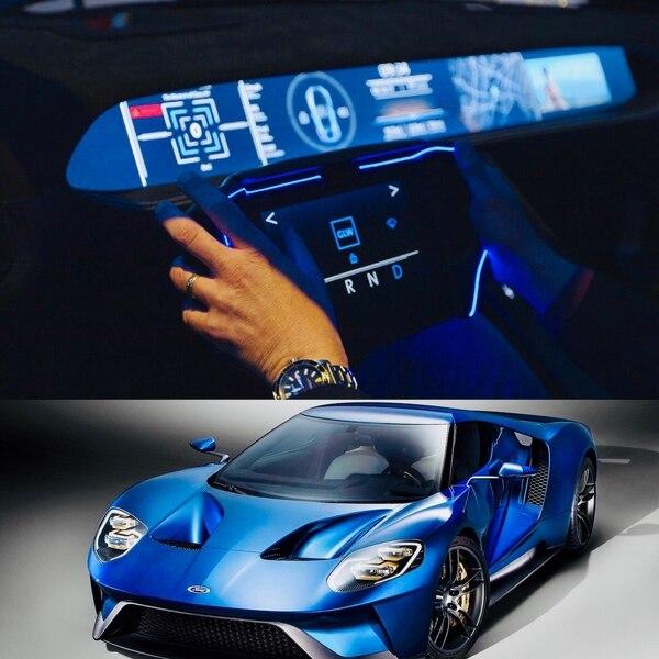 """El """"vidrio gorila"""" es usado hoy en el parabrisas del deportivo Ford GT y se espera sea aplicado en los futuros tableros de instrumentos completamente digitales y touch"""