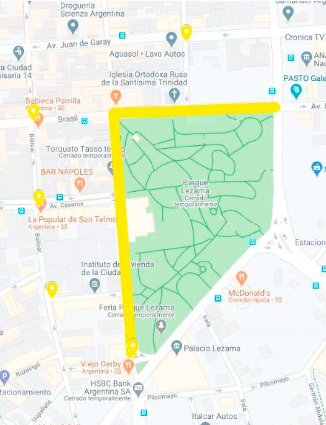 Running Ciudad mapas