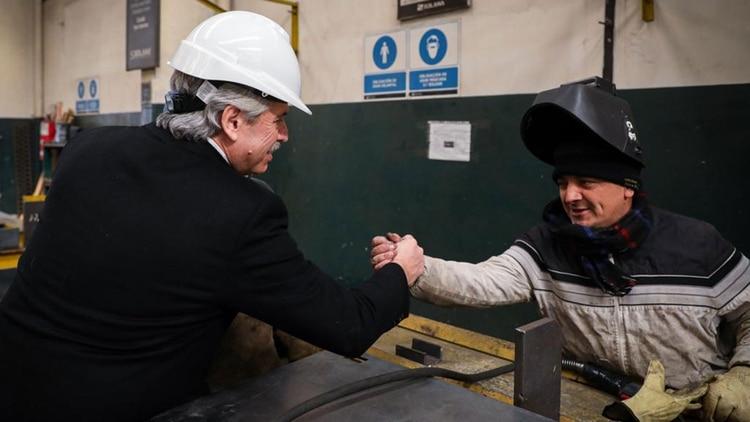 Alberto Fernández recorrió el Parque Industrial en su primera visita a Mar del Plata