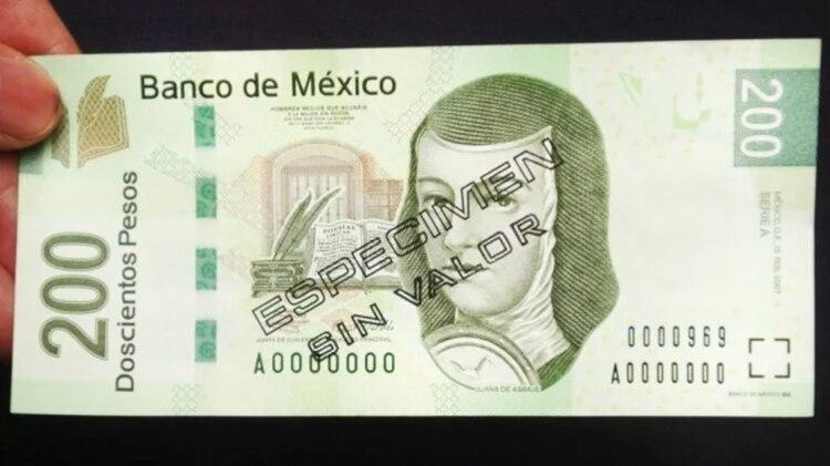 Sor Juana Inés de la Cruz es la imagen del billete de 200 pesos desde el 2001 (Foto: EFE)