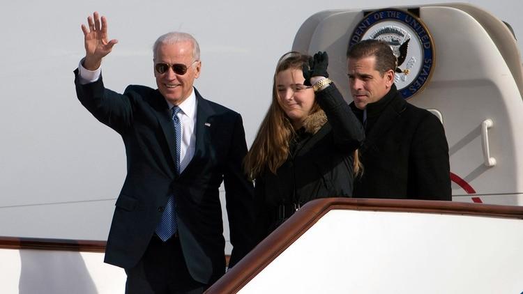 Joe Biden, Maisy Biden and Hunter Biden (AFP)
