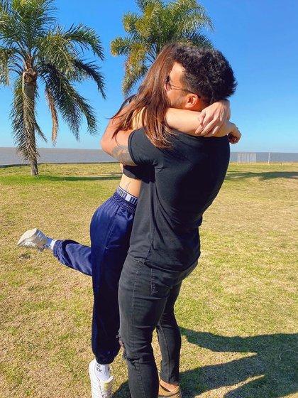La foto que publicó Ivana Nadal el domingo cuando confirmó su relación con Bruno Siri, el ex de Nati Jota