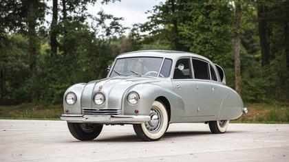 El T87 era un auto checoslovaco, al que Hitler terminó prohibiendo a sus oficiales. (Sotheby's)