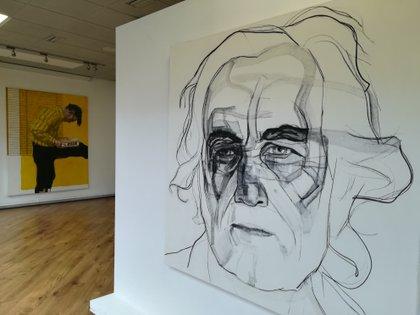Retrato de Carlos Alonso en el Instituto Cervantes de Dublín