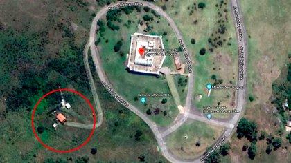 EL puesto de guardia donde hallaron los tres cadáveres