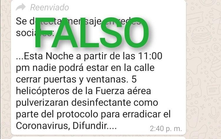 Noticias falsas sobre el coronavirus (Foto: Twitter/EEncinas_DR)