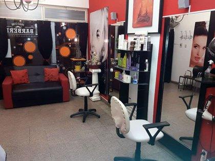 La peluquería donde fue asesinado Paulo César Micolini