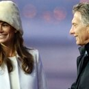 Argentina's President Mauricio Macri and his wife Juliana Awada attend a welcoming ceremony upon their arrival at Vnukovo International Airport in Moscow, Russia January 22, 2018. REUTERS/Sergei Karpukhin