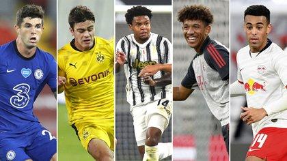 Christian Pulisic (Chelsea), Giovanni Reyna (Borussia Dortmund), Weston McKennie (Juventus), Tyler Adams (RB Leipzig) y Chris Richards (Bayern Munich) fueron parte de la Academia.