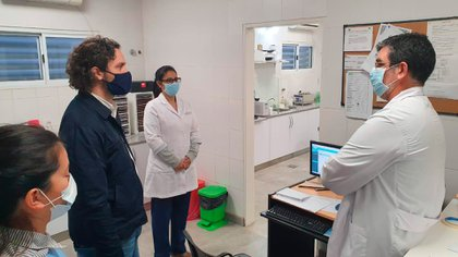 El jefe de Gabinete, Santiago Cafiero, durante una visita al Chaco, una de las provincias más castigadas por la pandemia