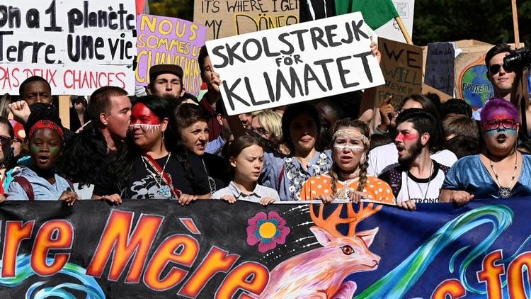 En EEUU, Greta encabezó multitudinarias manifestaciones juveniles