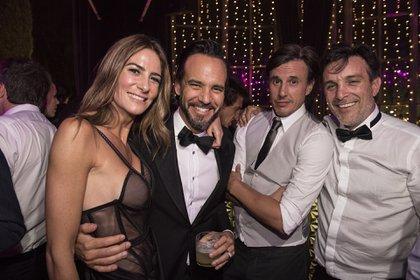 Puli Demaria, una de las grandes amigas de Pampita, en la fiesta junto a García Moritán