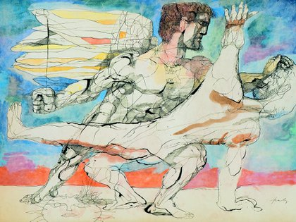 """""""La lucha de Jacob con el ángel"""", segunda mitad de la década de 1950."""