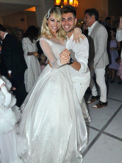 Vicky con su hermano Nicolás