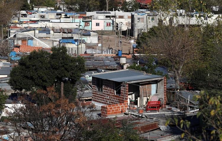 Imagen aérea de Villa Azul, el barrio que se ubica entre Quilmes y Avellaneda