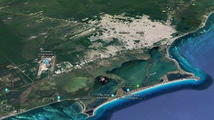 Cancún es uno de los principales centros turísticos de México (Foto: Google Earth)