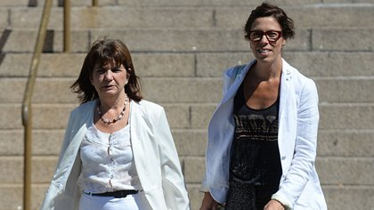 Laura Alonso y Patricia Bullrich, en tribunales (archivo DyN)