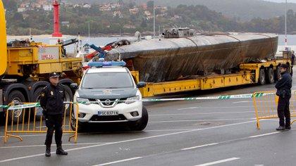 El narcosubmarino capturado recientemente en España (EFE)