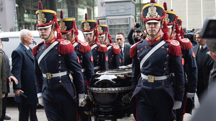 Los restos de De la Rúa llegan al Congreso (Foto: Adrián Escandar)