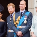 The royals watch the RAF 100 celebrations from the balcony at Buckingham palace. (The Grosby Group)