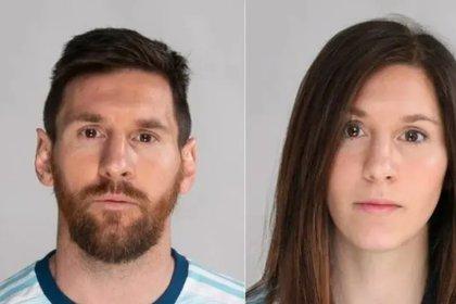 Lionel Messi y su versión con rostro femenino