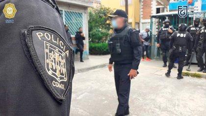 Los detenidos fueron puestos a disposición del Ministerio Público (Foto: SSC-CDMX)