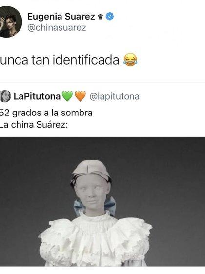 La respuesta de la China Suárez