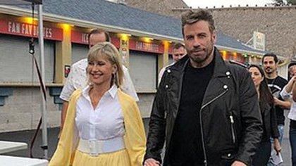 En 2019, Olivia Newton-John y John Travolta participaron en un evento vestidos como sus icónicos personajes (Foto: Archivo)
