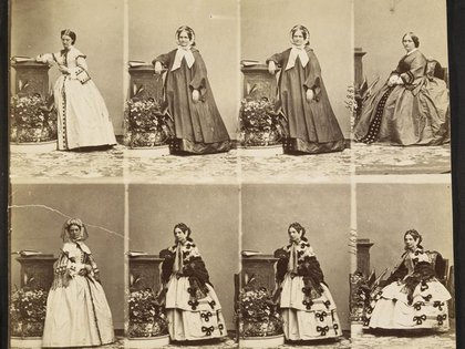 Foto de Constance Queniaux en 1860 (André-Adolphe-Eugène Disdéri – Foto (C) RMN-Grand Palais (musée d'Orsay) / René-Gabriel Ojéda)