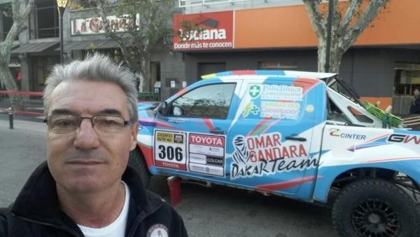 Omar Gandara, el marplatense de 63 años correrá su sexto Dakar
