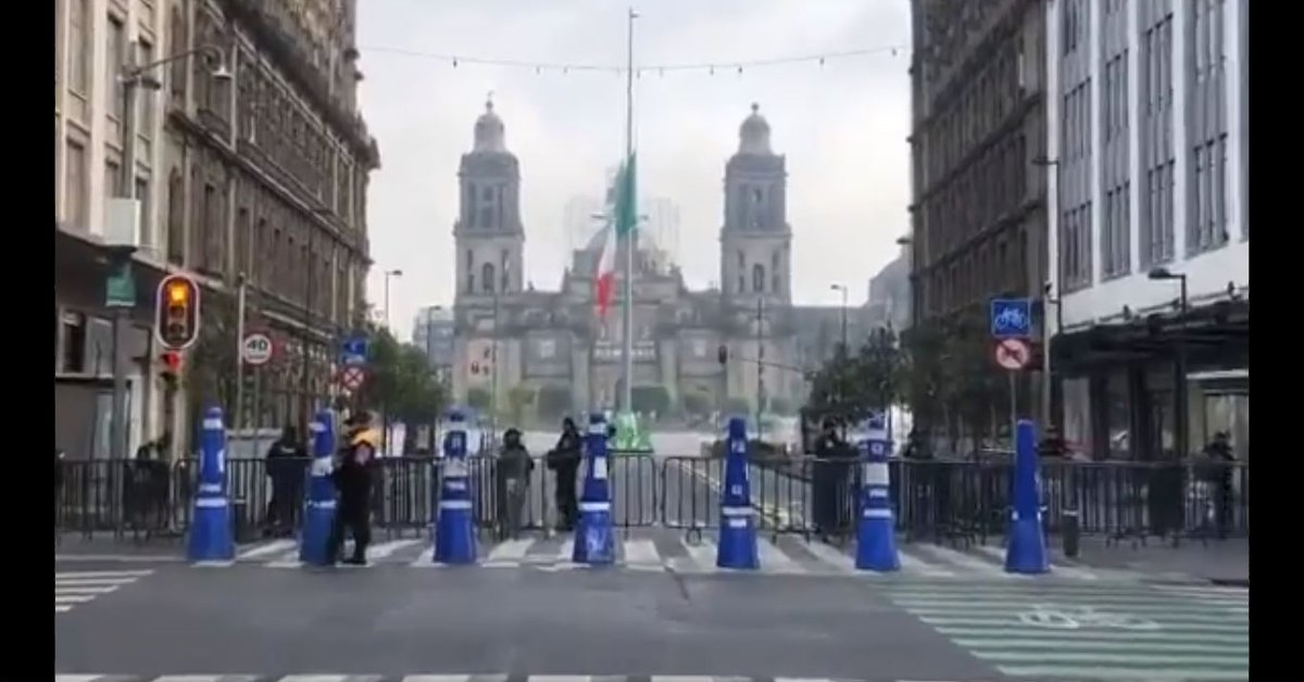 Why did they close the CDMX Zócalo a few hours before the June 6 elections?