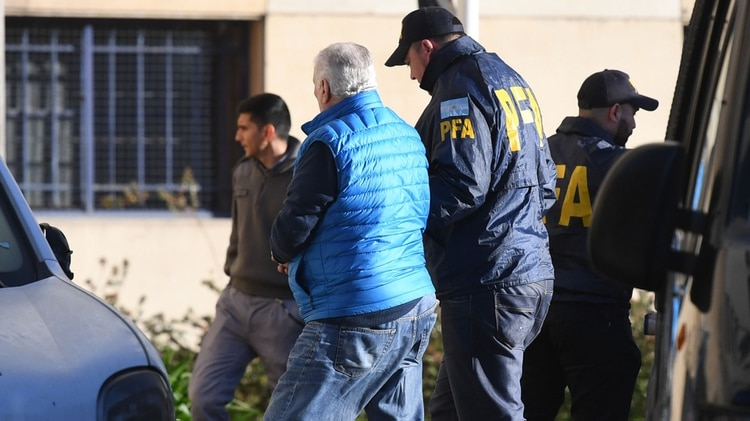 Néstor Otero, el día de su detención (foto Maximiliano Luna)
