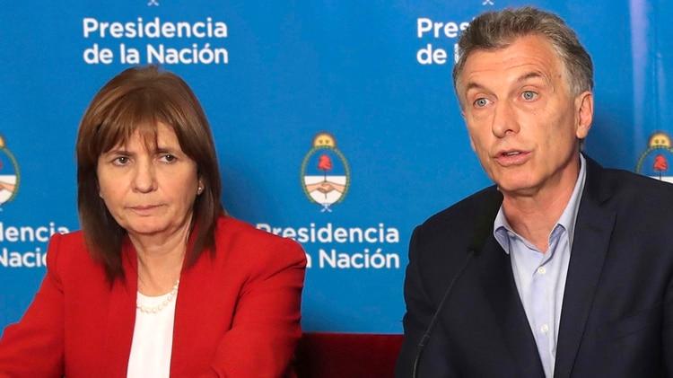 Patricia Bullrich y Mauricio Macri (Presidencia)