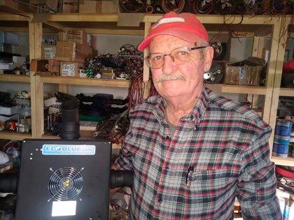 Es mendocino, tiene 67 años e inventó un esterilizador de aire que elimina al coronavirus (Gentileza: Ser y Hacer Malargüe)