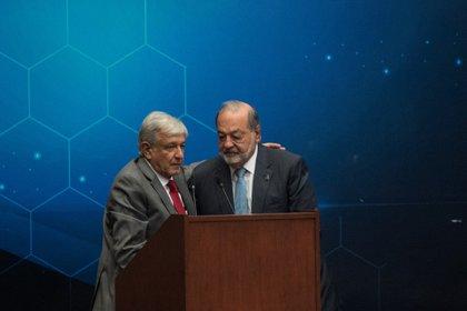 Carlos Slim y Andrés Manuel López Obrador han colaborado juntos desde hace varios años (Foto: Cuartoscuro)