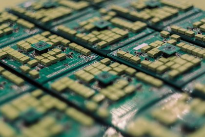 Semiconductor chips are on display at the Semicon Taiwan exhibition show in Taipei, Taiwan, on Wednesday, Sept. 5, 2018. The show runs through to Sept. 7. Photographer: Billy H.C. Kwok/Bloomberg