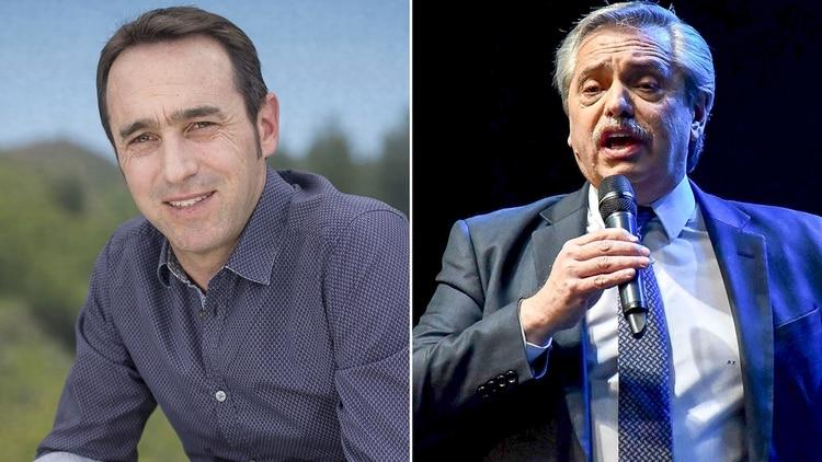 Marcos Galperin y Alberto Fernández
