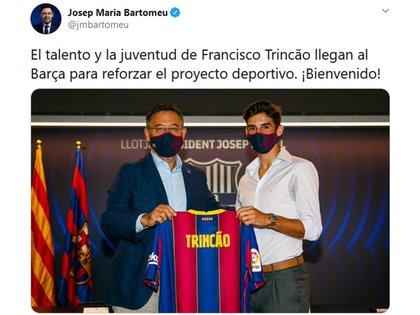 La publicación de Bartomeu en medio del Caso Messi
