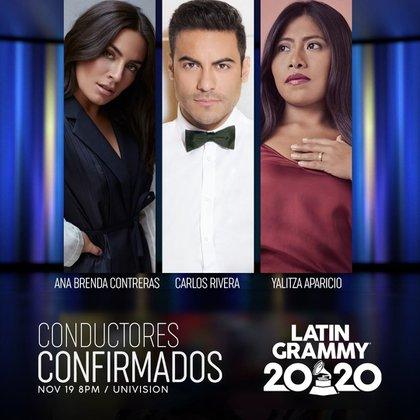 Yalitza Aparcio y Ana Brenda Contreras continúan siendo las conductoras de la Ceremonia del Latin Grammy (Foto: Instagram @ latingrammys)