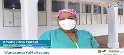 Ella es Amalia Rosa Matapí, primera mujer que recibirá vacuna contra covid-19 en Amazonas.